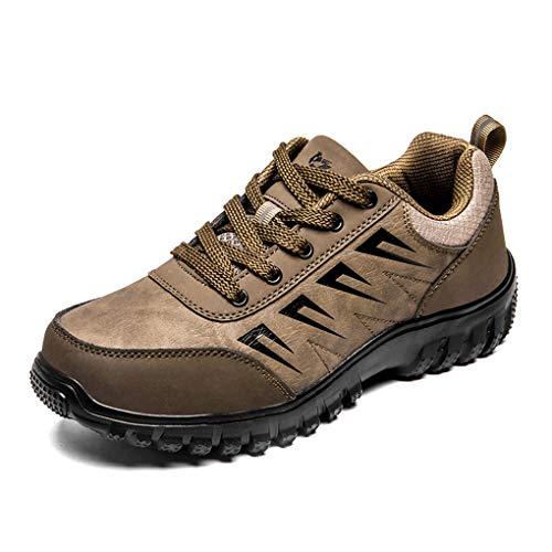 Low Top Zapatos de Senderismo Hombre Cordones Zapatillas de Montaña Ultraligeras Transpirables Antideslizantes Suela para Trekking Deporte Aire Libre