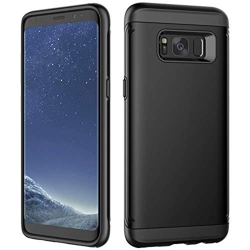 JETech Coque Compatible avec Samsung Galaxy S8, Double Protection Anti-Rayures et Antichoc, Noir