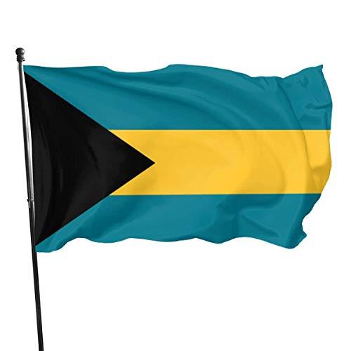 Jacklee Vlag van de Bahama's Tuinvlaggen Duurzame Fade Resistant Decoratieve Vlaggen Premium Kwaliteit Officiële Vlag met Grommets Polyester Deluxe Outdoor Banner 2020 voor Alle seizoenen en feestdagen- 3X 5 Ft