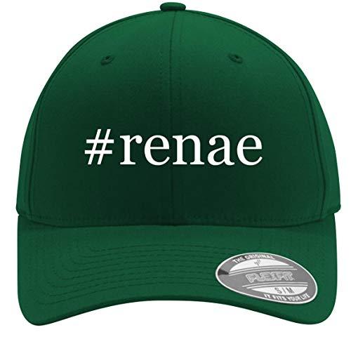 #Renae - Adult Men's Hashtag Flexfit Baseball Hat Cap, Forest, Small/Medium