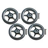 perfeclan 4x Bicicleta Plegable Easy Wheel Bike EZ Wheels Componente de Reacondicionamiento de Rueda para Brompton - Negro