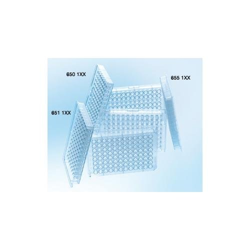 Greiner Bio-One 650101 Clear Polystyrene Microplate, Non-Sterile, Round (U) Bottom, 96 Well (Pack of 100)