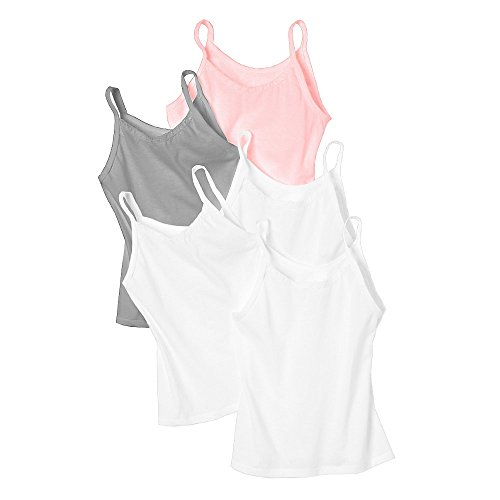 Hanes Girls' Cami 5-Pack_Wardrobe_Large