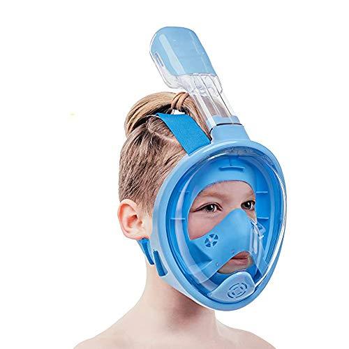 FU LIAN Set de Snorkel de Cara Completa para niños, Gafas de Snorkel Impermeables y antiniebla, Impermeable, Snorkel más Largo, Niebla Impermeable, para niños y niñas de 6 a 15 años
