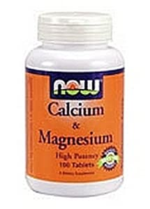 Now Calcium/Magnesium 1000/500 mg, 100 Tablets (Pack of 3)