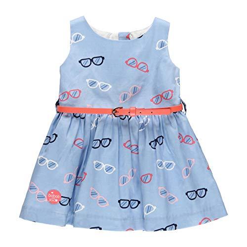 boboli Jurk satijn baby meisje model 212083 - blauw - 18 meses
