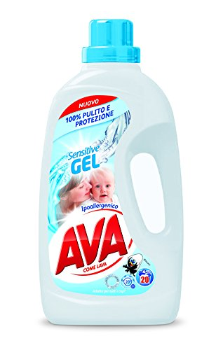 AVA Sensitive Gel Detersivo Liquido per Lavatrice - 1300 ml - 20 Misurini