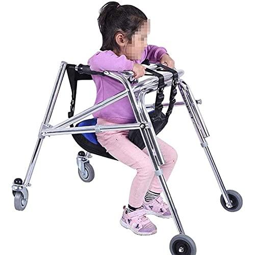 jjff Andador para Niños, Marco para Caminar Plegable De Aluminio Ligero Y De Pie con Asiento, Ayuda para Caminar Asistida para Niños Discapacitados con Parálisis Cerebral/Discapacidad