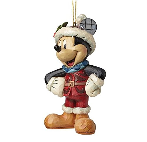 Enesco A28239 Sospensione Mickey Natale, PVC, Multicolore, 7 x 8 x 10 cm