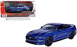 New DIECAST Toys CAR MOTOR MAX 1:24 W/B - 2018 Ford Mustang GT Blue 79352BL