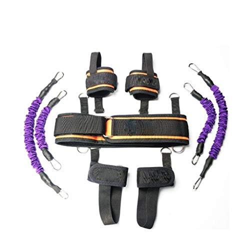 QB Tracción Cuerda Fitness Formación, Elástica Cuerda, Boxeo Taekwondo, Cuerda Resistencia Capacitación Esgrima, Cuerda Bouncing Hebilla Elástica Tire Fitness Conjunto Fitness (Color : 140 pounds)