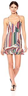 Parker Women's Jay Sleeveless Striped Ruffle Short Dress