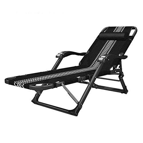 WJJJ Stühle Textoline Schwerelosigkeit Stühle Liegestühle Klappstühle Sonnenliegen Garten Gartenstühle Schwarz (Farbe # 1)