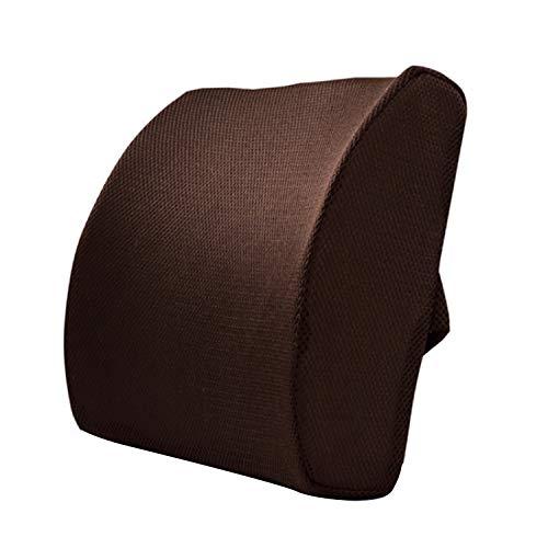 Komfort Memory Foam Bürostuhl Autosofa Rückenkissen Lordosenstützkissen Mit verstellbaren Trägern für Schwangere Büroangestellte Rückenschmerzen lindern Kaffee
