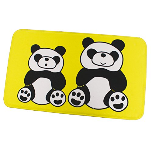 MSV 45 x 75 cm Panda Microfibre Tapis de Bain, Multicolore