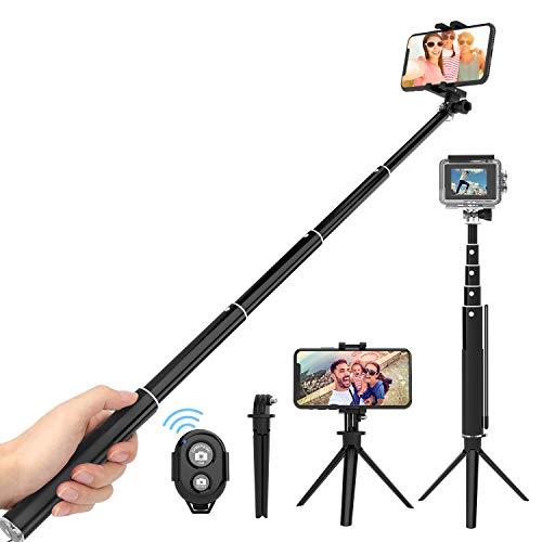 ThiEYE Bluetooth Selfie Stick Stativ, 3 in 1 Erweiterbar Monopod Wireless Selfie-Stange Stab mit Bluetooth-Fernauslöse für iOS und Android Smartphones