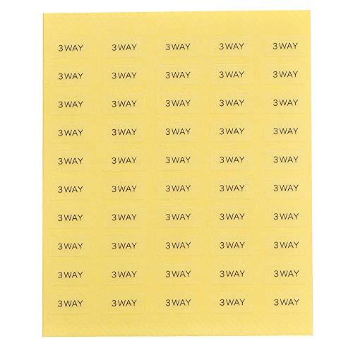 台紙用シール 10×5mm 日本製 アクセサリー台紙用 (3WAY・透明, 250枚)