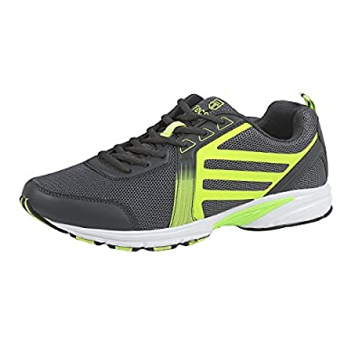 Men's Trainers And Running Shoes - Athletic Multi Sport and Gym Footwear for Walking, Jogging And All Sports - Sizes 3.5-9.5 - Green, Pink/Purple, and Black - By Tecsmo