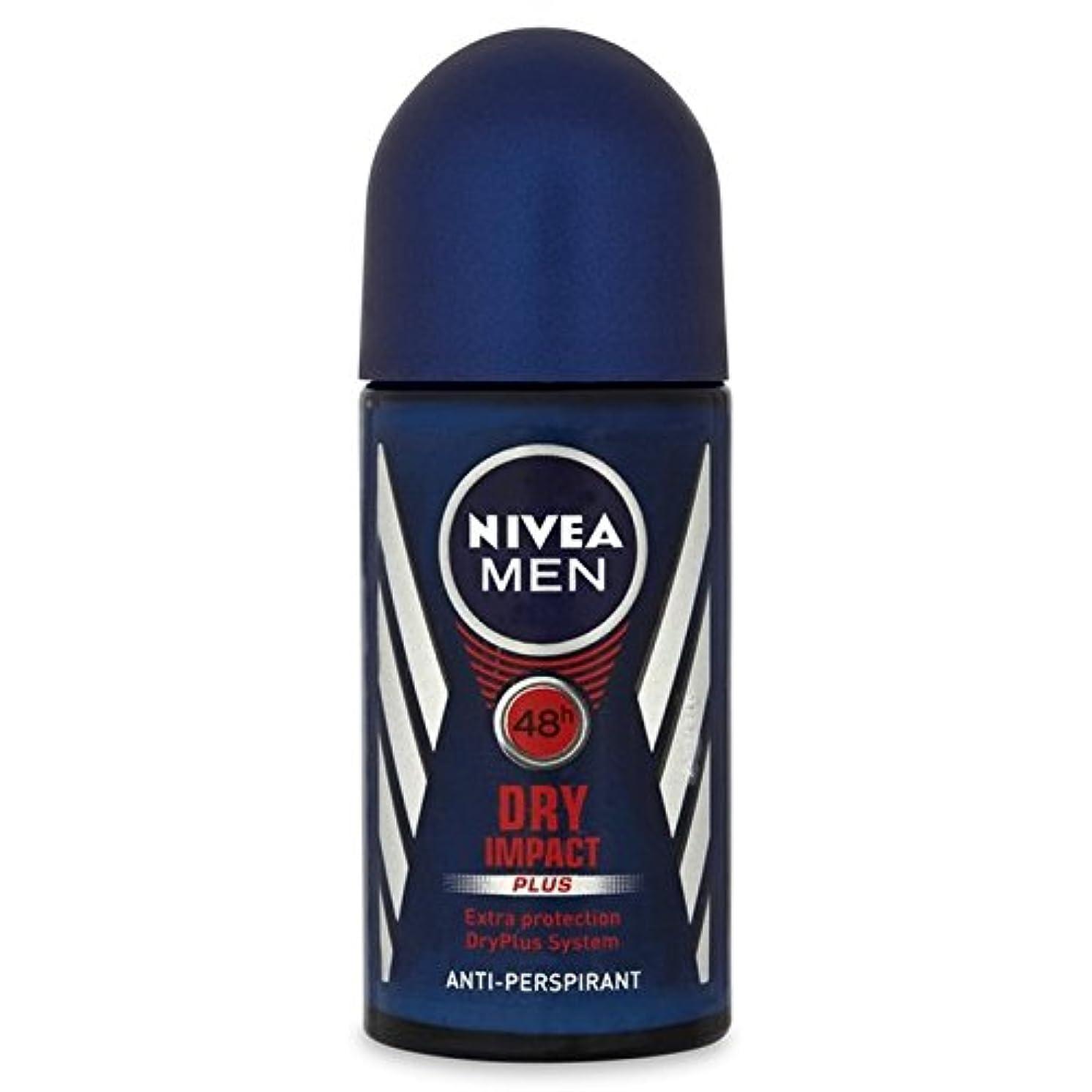 元気音離すNivea Men Invisible Impact Roll On Anti-Perspirant Deodorant 50ml - 制汗デオドラント50ミリリットルのニベア男性の目に見えない影響ロール [並行輸入品]