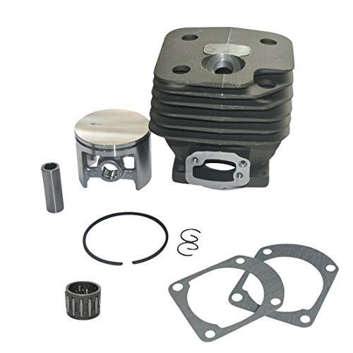 hndfhblshr Kit de Pasador de Cilindro y pistón Cojinete de Agujas Compatible con Motosierra H-usqvarna 268272 52MM