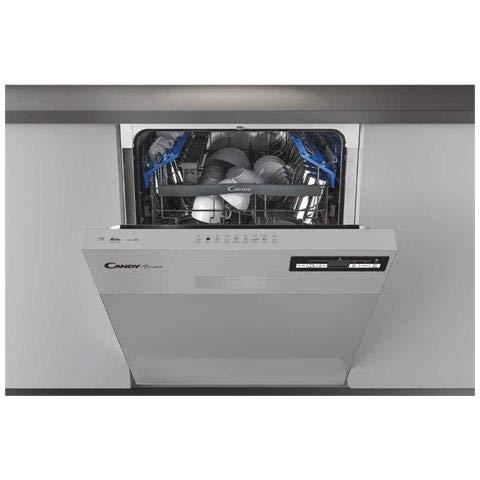 CANDY Lave-vaisselle CDSN 2D520PX encastrable avec façade à visière, classe A++, capacité 15 couverts.