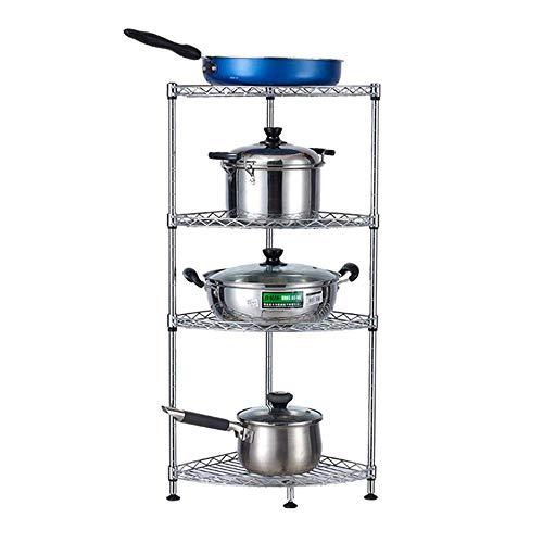 DJSMsnj Küchenregale aus Kohlenstoffstahl Stehende, mehrschichtige Topfregale können zur Aufbewahrung von Bratpfannen/Dampfgarern verwendet Werden Besteckständer (Size : 35 * 35 * 80CM)