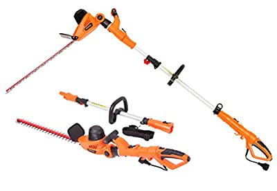 GARCARE Corded Pole Hedge Trimmer with Laser Cutting Blade, Blade Cover Included