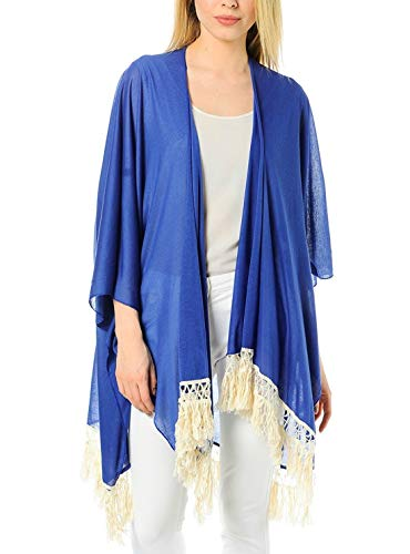 Vero Moda VMTESSA Poncho, Blau One size