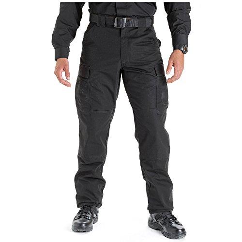 5.11 Tactical Men's Lightweight TDU Ripstop Work Pants, Style 74003, Black, Large