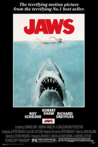 Poster Revolution 24-Inch by 36-Inch, Jaws Poster, Mint