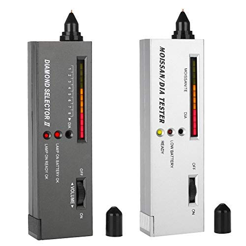 Diamond tester, 2 Arten von professionellen Schmuckprüfer Maissanite-Schmucktester, Präzisionswerkzeuge mit LED-Anzeige