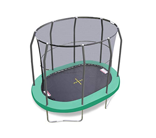 JumpKing Junior Oval Shaped Trampoline and Enclosure - 7ft x W:10