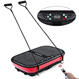 MaxKare Vibration Plate Machine Whole Body Vibration Platform Fitness Workout Plate with 2 Loop Bands+3 Vibrating Zones+10 Modes+99 Speed,3D Motion Vibration Mechine for Weight Loss & Shaping