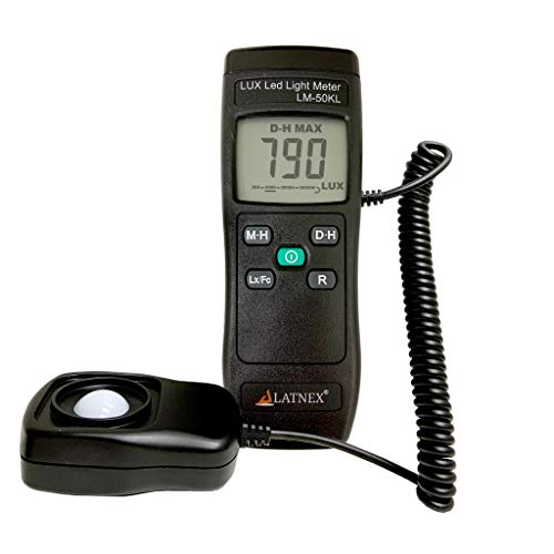 Light Meter LM-50KL Measures Lux/Fc - LED/Fluorescent, Industrial, Household, and Photography - Calibration Certificate Included