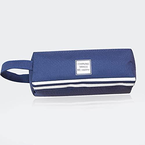 Mavl Gran Caja de lápices Grande Capacidad de lápiz lápiz Grande Bolsa de Almacenamiento 2 Compartimentos Escritorio Organizador Marcador Pluma Estuche Simple papelería Bolsa de lápices