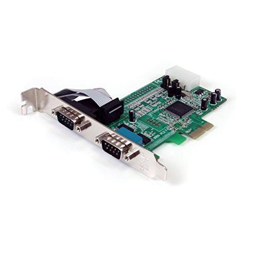 StarTech.com 2 Port Seriell RS232 PCI Express Schnittstellenkarte mit 16550 UART