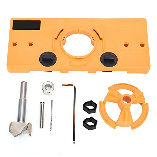 Hinge Jig Hole 35mm Forstner Drill Set Guide Locator Hole Opener Template for Cabinet Hinges Mounting Plates Woodworking DIY Tools