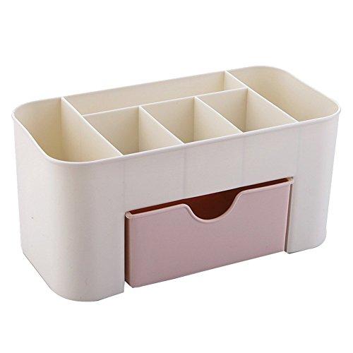 Kunststoff Make Up Organizer Schubladen Kosmetik Aufbewahrung Box Organizer für Schmuck, Armbanduhr und Kosmetik 22*11*10,5 cm, Rosa