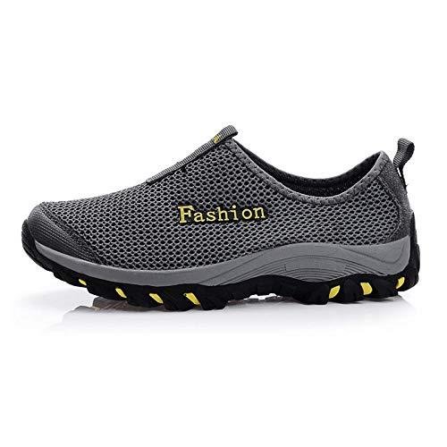 Aerlan Running Shoes with Air Padding,Zapatos Deportivos para Correr,Zapatos Deportivos de Malla Transpirable para Caminar al Aire Libre Shoes-Gray_40#