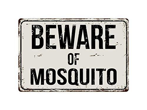 Native Fab Letrero de metal de 20 x 30 cm, de aluminio, con diseño de mosquitos, resistente al agua, aspecto vintage, para tiendas, todo tipo de personajes individuales o decoración del hogar.