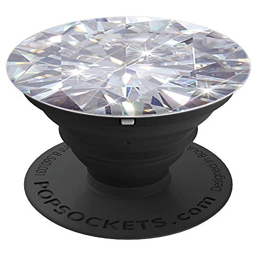 Diamond - April Birthstone PopSockets Grip and Stand for Phones and Tablets