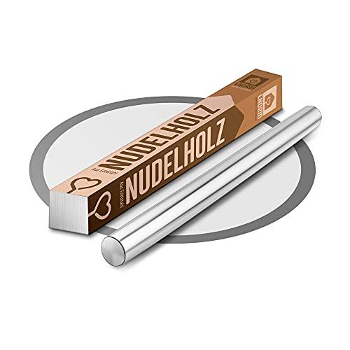 Enorid Nudelholz aus Edelstahl – Teigroller – Antirost Backzubehör – Teigrolle in [2] Größen 30 oder 40 cm – Für Pizza, Kuchen, Nudelteig