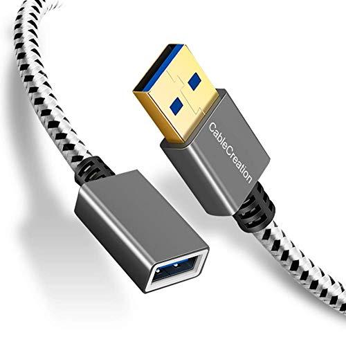 CableCreation 2-Pack USB3.0 Cable de extensión, USB 3.0 A M