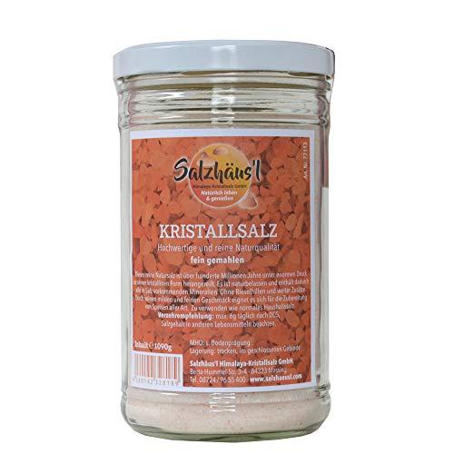 Kristallsalz Salz fein rosa SALZHÄUS`L 1.090 g / im Glas / Pakistan