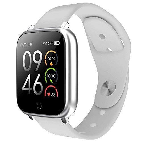 Reloj inteligente,entrenamiento respiración modo multimovimiento, pulsera inteligente música remota, pantalla táctil redonda 1.09 pulgadas rastreador actividad física contador de pasos impermeable