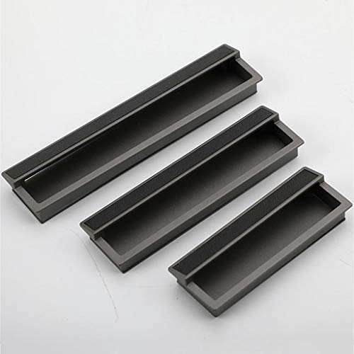 FKSDHDG Manija de cajón oculta de aluminio empotrada empotrada manija gabinete armario puerta corredera necesita ranura
