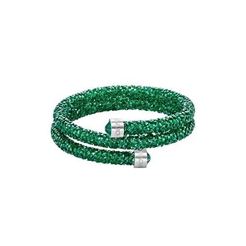 Swarovski Braccialetto da Donna Cristallo 52924, Base Metal, Colore: Verde, cod. 5292450