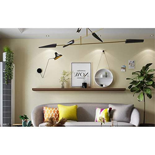 Nunubee Reacondicionado Resistente al agua Dormitorio simple Dormitorio Armario Etiqueta de la pared Papel pintado de tela lisa 100cmx60cm Colores crema