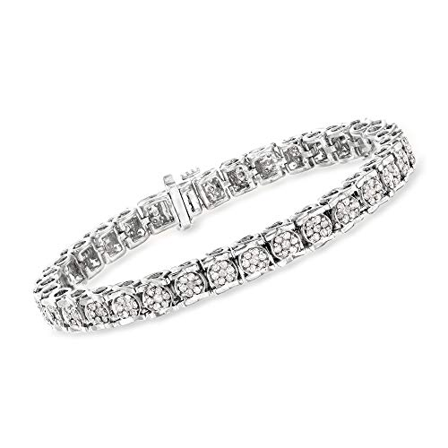Ross-Simons 3.00 ct. t.w. Diamond Tennis Bracelet in Sterling Silver. 7 inches