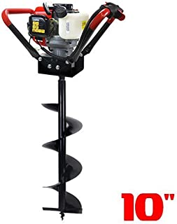 XtremepowerUS 2 Stroke Gas Post Hole Digger One Man Auger EPA CARB (Digger and 10
